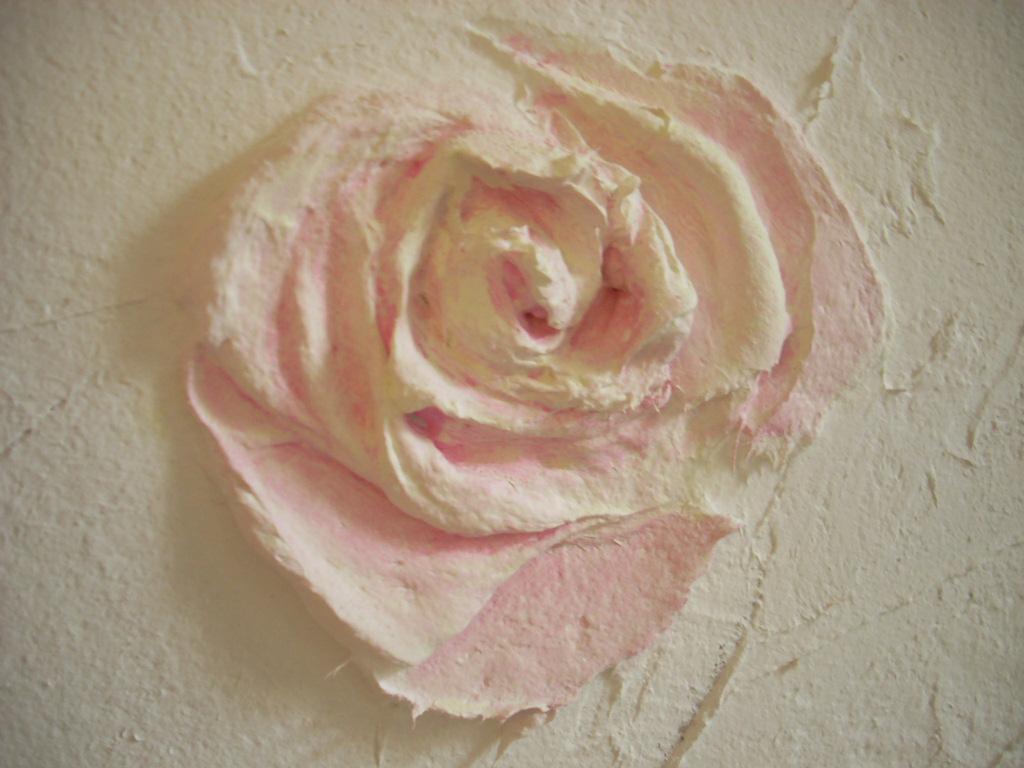 Как сделать из шпаклевки цветок 466
