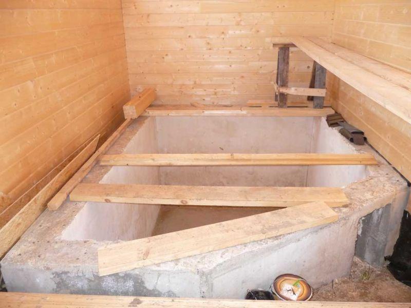 Бассейн в бане своими руками проекты