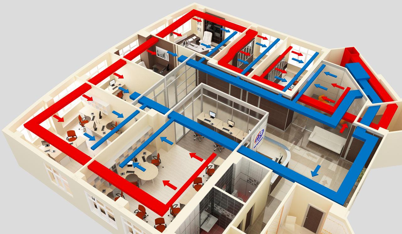 схема вентиляционных каналов в кирпичной многоэтажке